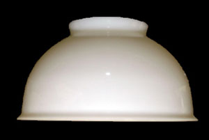 Welsbach Milk Glass Dome Glp30