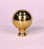 "1 1/4"" Diameter Solid Brass Ball Finial (F04)"